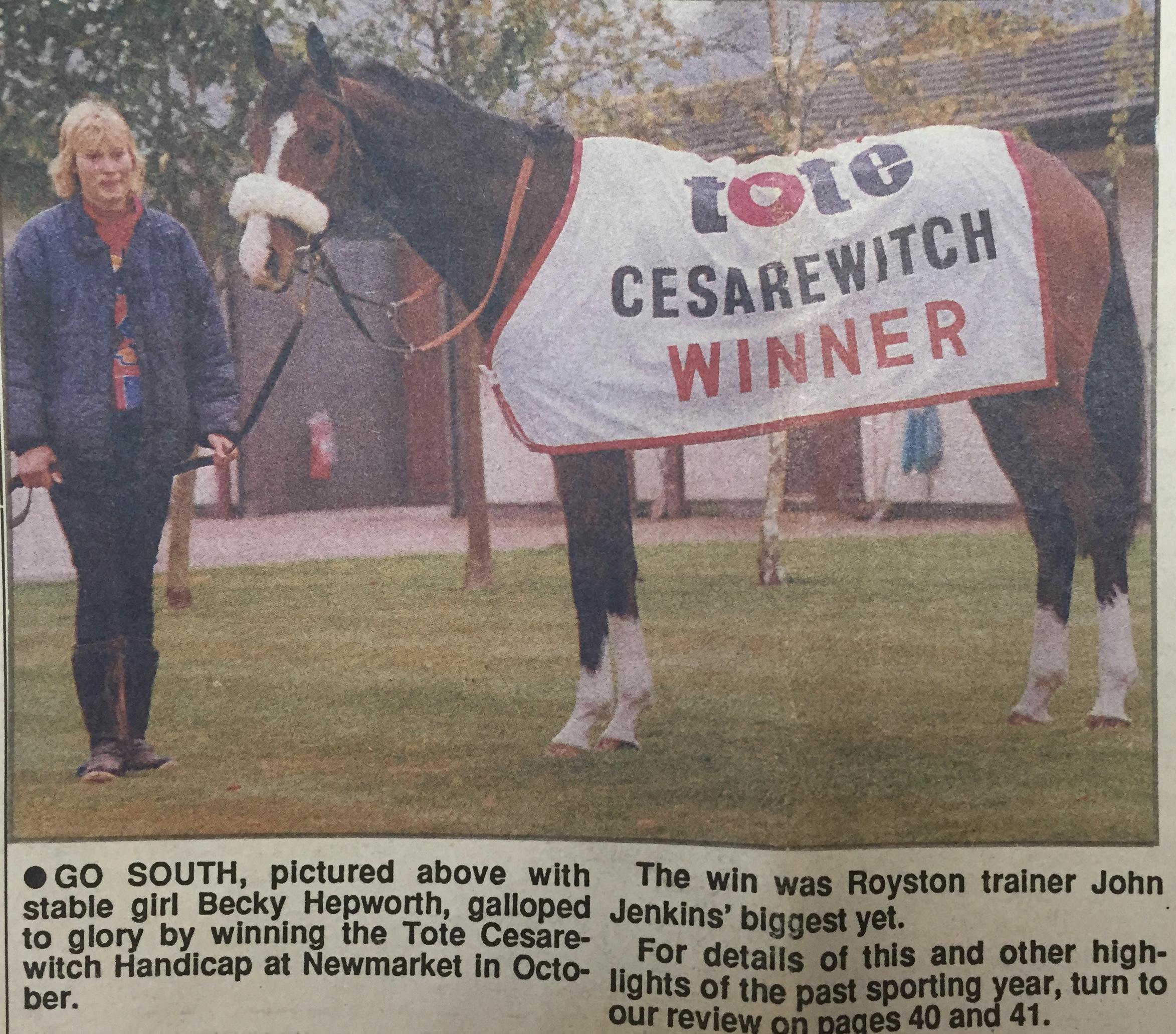 go south cesarewitch winner john jenkins racehorse trainer royston news